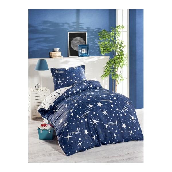 Lenjerie de pat Jussno Night Sky, 140 x 220 cm, albastru