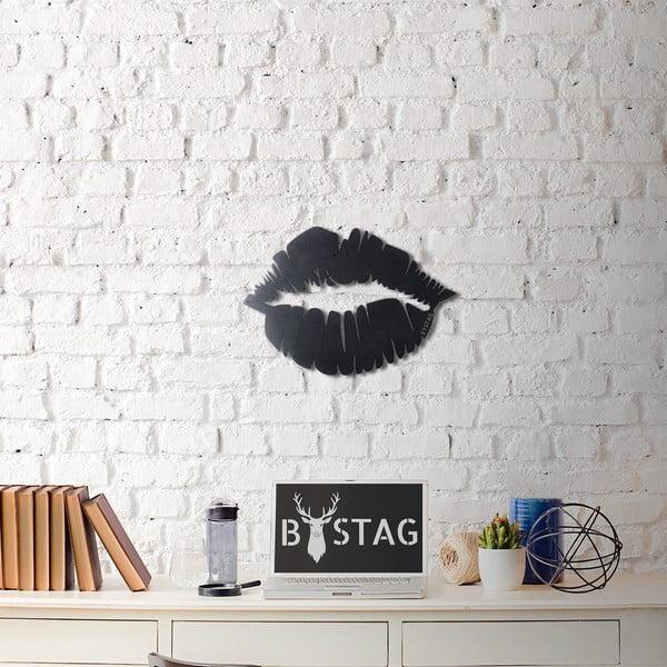Metalowa dekoracja ścienna Lips, 49x35 cm
