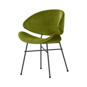 Zelená židle s šedými nohami Iker Cheri