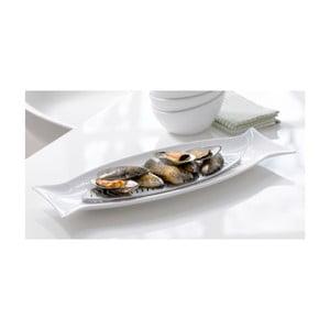 Porcelánový servírovací talíř s mřížkou Steel Function Capri