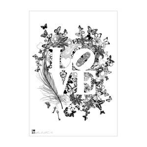 Plakát Love, 30x40 cm, speciální edice