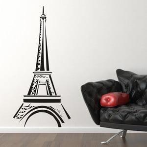 Samolepka na stěnu Eiffelovka, černá