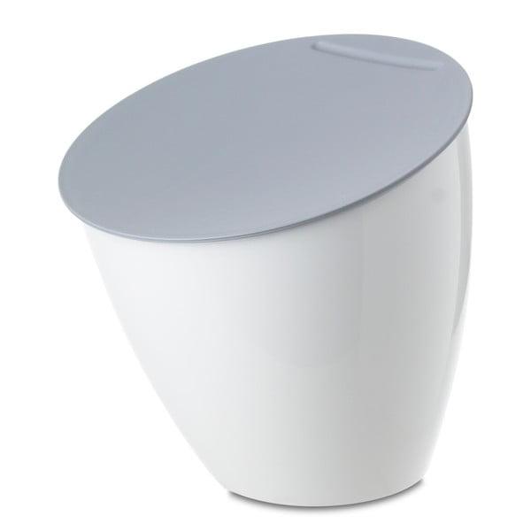 Bílý odpadkový koš na kuchyňskou linku Rosti Mepal Calypso, 2,2l