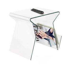 Skleněný odkládací stolek/stojan na časopisy Evergreen House Ra