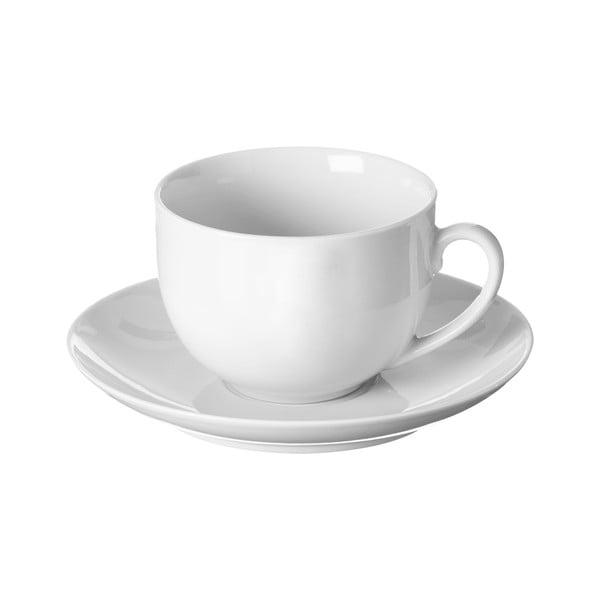 Ceașcă de ceai și farfurie Price & Kensington Simplicity, 180 ml, alb