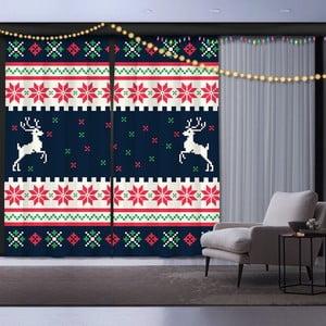 Sada 2 vánočních závěsů Christmas Reindeer