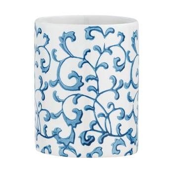 Suport ceramică pentru periuțe de dinți Wenko Mirabello, alb - albastru imagine