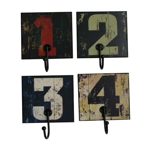 Sada 4 háčků 4 Numbers