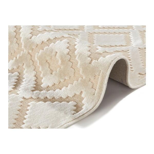 Krémový koberec Mint Rugs Shine, 120 x 170 cm