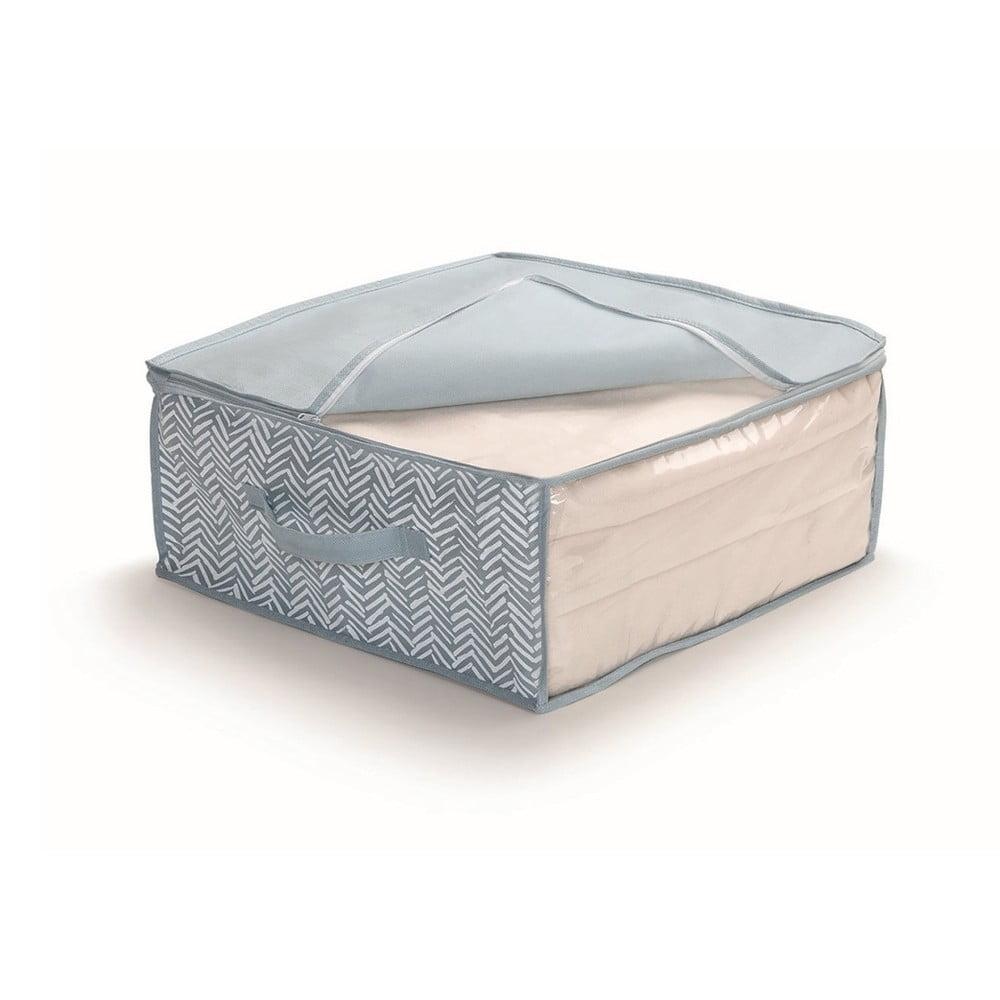 Modrý uložný box na přikrývky Cosatto Tweed, šířka 45 cm