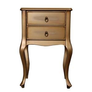 Odkládací stolek Viola Gold, 46x33x70 cm