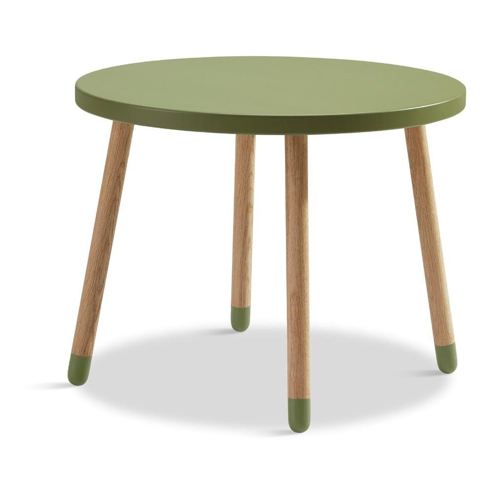 Zelený dětský stolek Flexa Dots, ø 60 cm