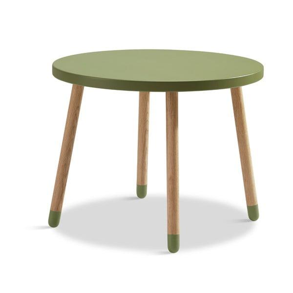 Zelený dětský stolek Flexa Play, ø 60 cm