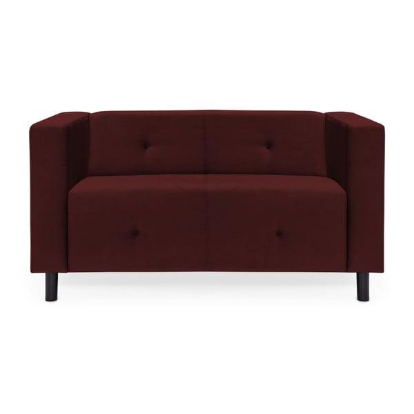 Burgundowa sofa 2-osobowa Vivonita Milo
