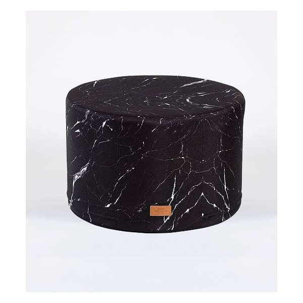 Puf Black Marble