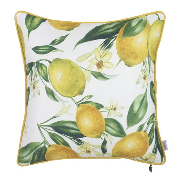 Lemon Pattern párnahuzat, 43 x 43 cm - Apolena