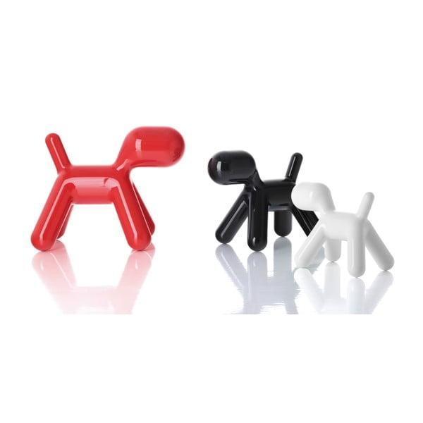 Stolička Puppy černá lesklá, 43 cm