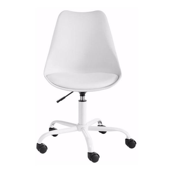 Bílá nastavitelná kancelářská židle Støraa Dan