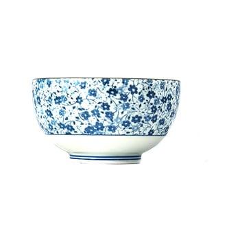 Bol din ceramică MIJ Daisy, ø13cm, alb - albastru