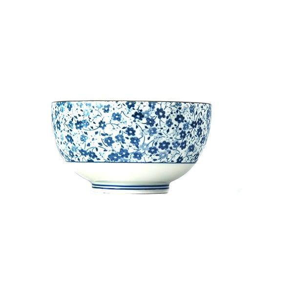 Niebiesko-biała miska ceramiczna MIJ Daisy, ø 13 cm