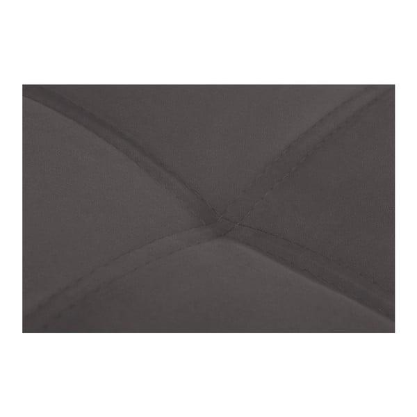 Tmavě hnědá pohovka Modernist Crinoline, pravý roh
