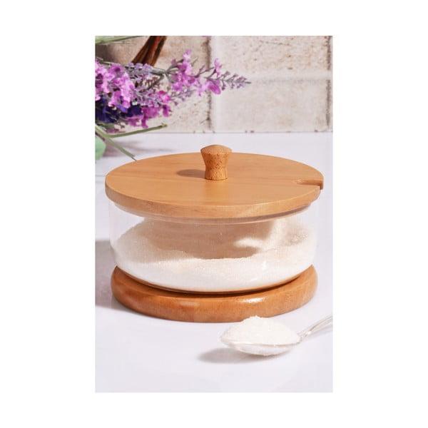 Cukřenka s bambusovým víčkem, 12 cm