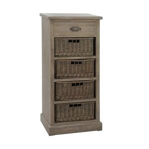 Zásuvky Baskets Grey, 49x33x107 cm