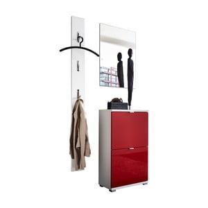 Set dulap, oglindă și cuier de perete Germania Colorado Uno Rojo, roșu