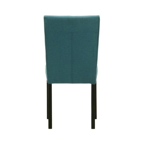 Sada 2 židlí Monako Etna Blue, černé nohy