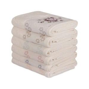 Sada 6 bavlněných ručníků Daireli Ruhno, 50 x 90 cm