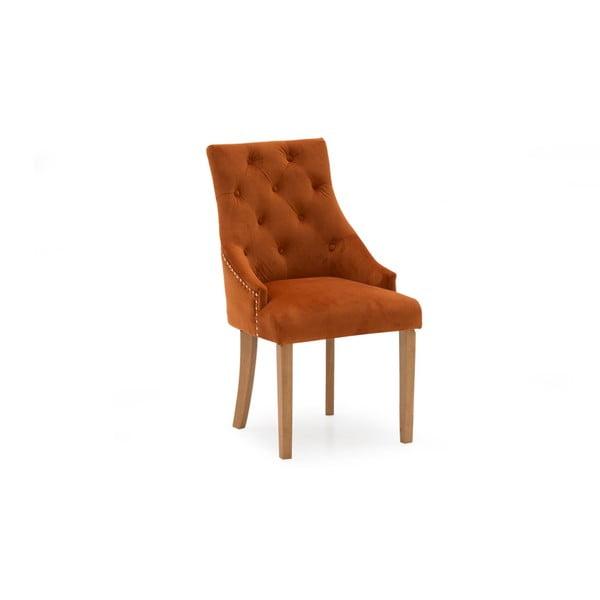 Sada 2 oranžových jídelních židlí VIDA Living Hobbs