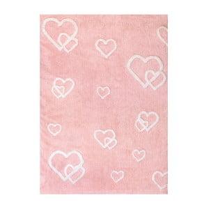 Koberec Corazones 160x120 cm, růžový