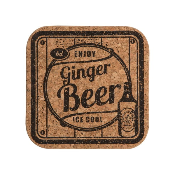 Sada 4 podtácků Soda Ginger