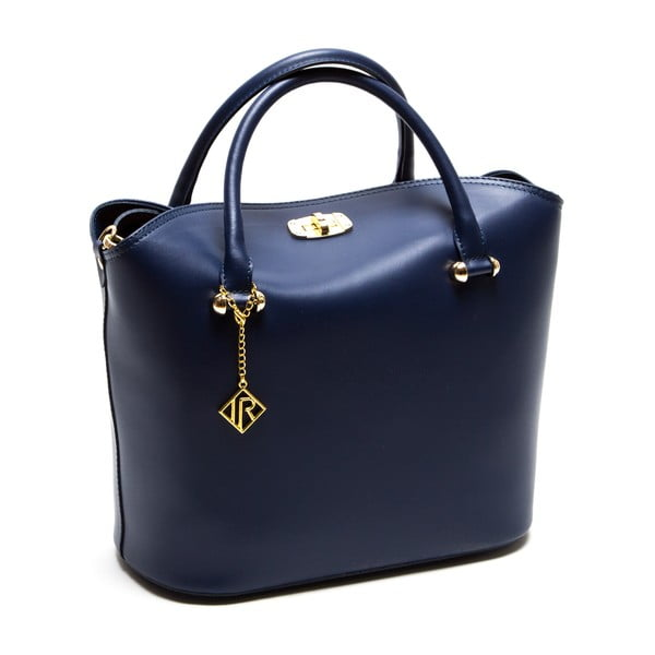 Modrá kožená kabelka Isabella Rhea no. 396
