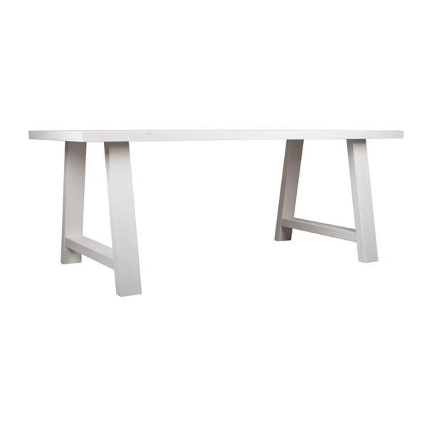 Biely stôl z masívneho dreva Zuiver A Zarámované, 230 x 90 cm