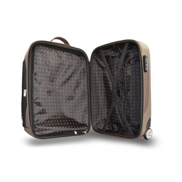 Sada 2 cestovních tašek na kolečkách Roulettes Brown, 111 l/65 l