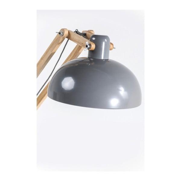 Stojací lampa s šedým stínidlem Kare Design Work Station