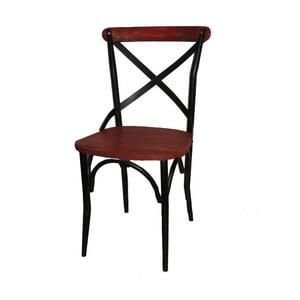 Židle Chaise Industrielle Rouge