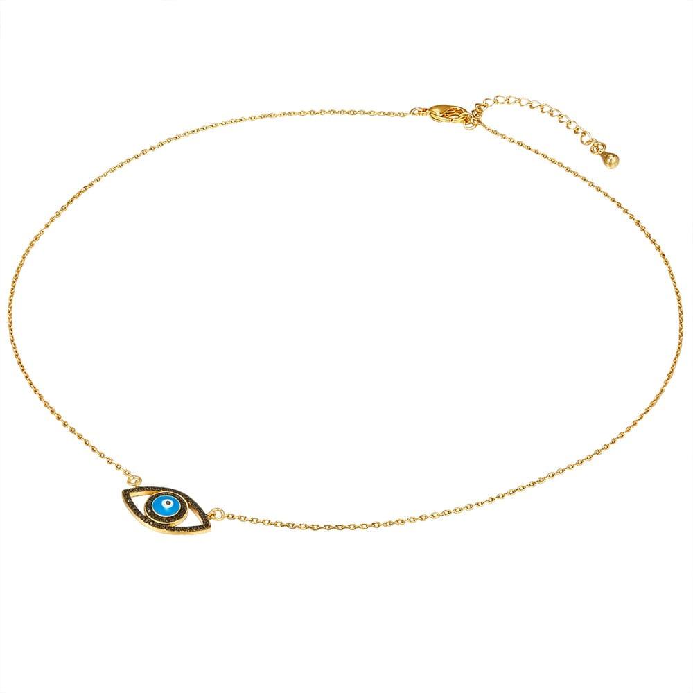 Dámský náhrdelník zlaté barvy s motivem oka Tassioni