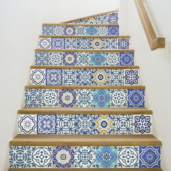 Sada 2 samolepek na schody Ambiance Romina, 15 x 105 cm