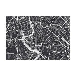 Tablou Homemania Maps Rome Black, 70 x 100 cm