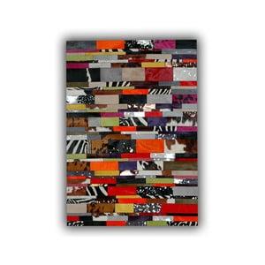 Koberec z pravé kůže Stripes, 140x200 cm