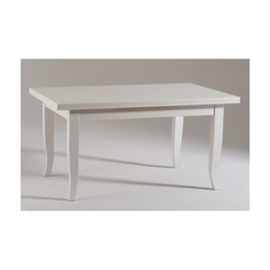 Bílý rozkládací dřevěný jídelní stůl Castagnetti Piatto, 160cm