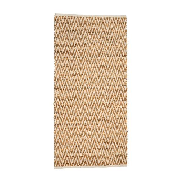 Béžový koberec zjuty akůže Simla, 170x240cm