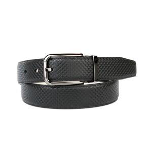 Pánský kožený pásek 3PB10S Black, 90 cm