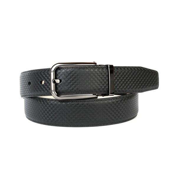 Pánský kožený pásek 3PB10S Black, 100 cm