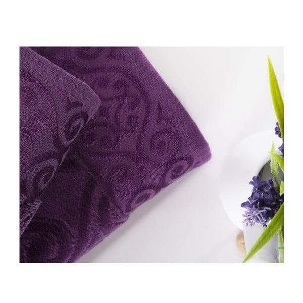 Sada 2 ručníků Hanzade Purple, 50x90 cm a 70x140 cm