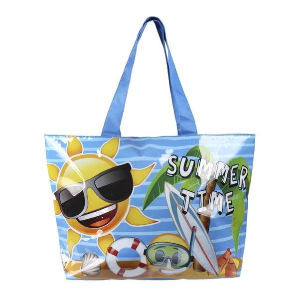 Niebieska torba plażowa InnovaGoods Time Emojis