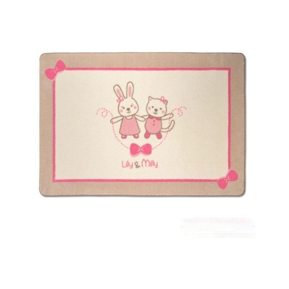 Dětský koberec Confetti Funnababy Lily & Mily, 100 x 150 cm