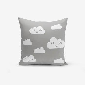 Față de pernă cu amestec din bumbac Minimalist Cushion Covers Grey Background Cloud, 45 x 45 cm de la Minimalist Cushion Covers